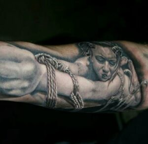 Bondage Tattoo, Tibor Szalai, Tempel München