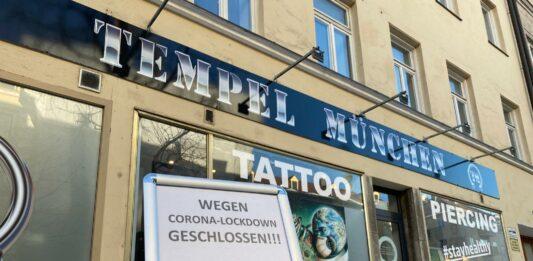 tattoostudio corona lockdown