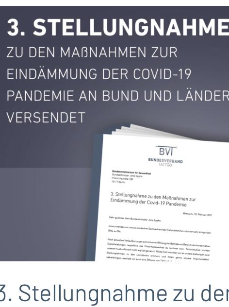 Bundesverband Tattoo, Stellungnahme