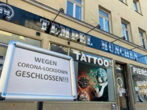 tattoostudio corona lockdown EM Zuschauer