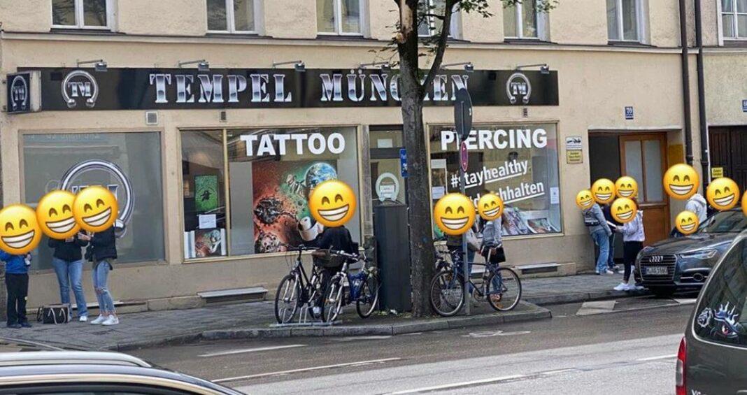 Tempel München Piercing & Tattoo - Andrang
