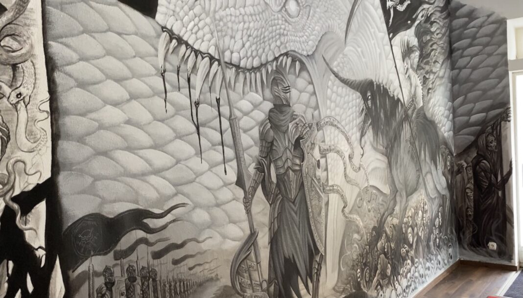 artist behind glass - wolfgang nosferatattoo