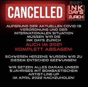 ink days zürich cancelled
