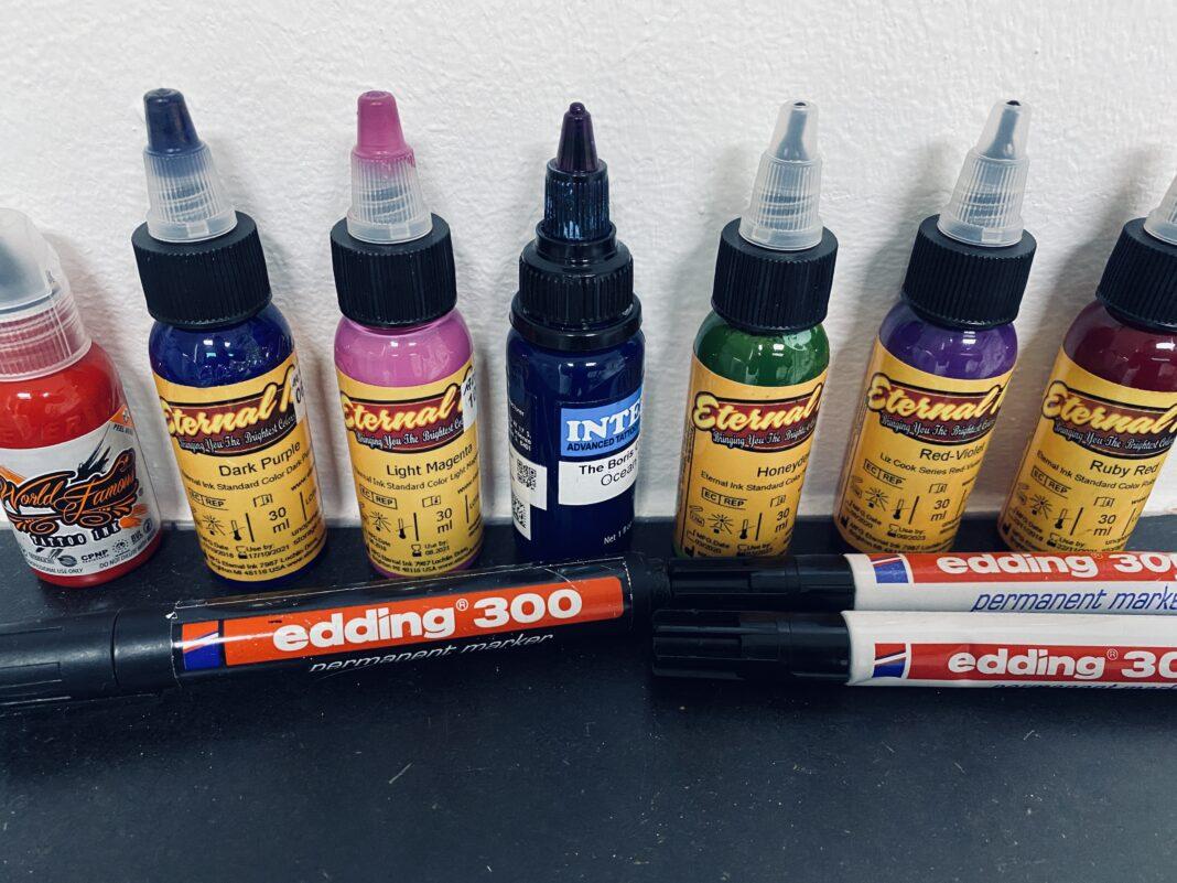 Edding Tattoo Farbe