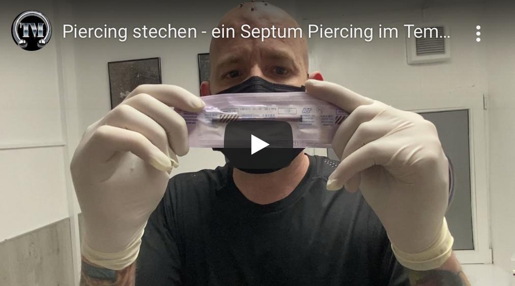 Piercingvideo Septumpiercing im Tempel München